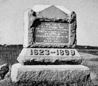 Thomson Memorial in its original location at Rye, NH / SeacoastNH.com