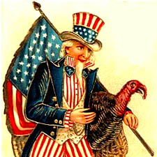 Uncle Sam and turkey