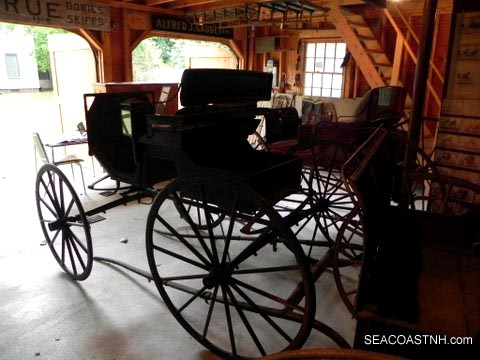Restored carriages at Bartlett Museum