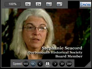 Stephanie Seacord narrates Portsmouth Historical Society video