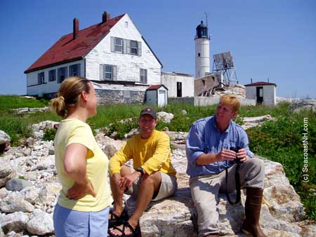 Researchers on white Island (c) J. Dennis Robinson / SeacoastNH.com