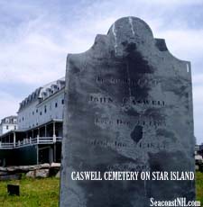 Caswell Cemetery and Lemuel Caswell's Atlantic House on Star Island, NH