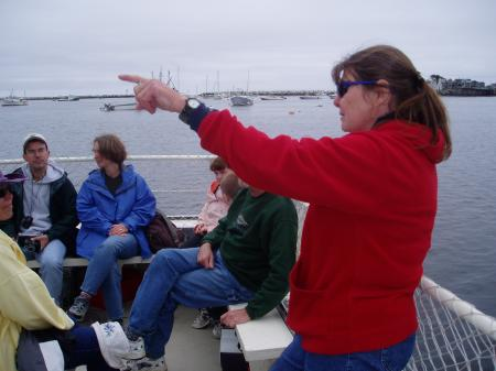 Captain Sue Reynolds offers safety instructions to morning passengers to the Shoals / SeacoastNH.com