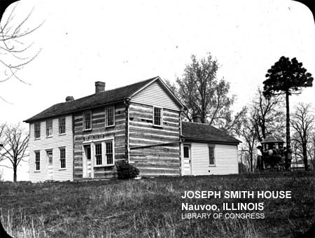 Joseph Smith Early home at Nauvoo, IL / Library of Congress Photo