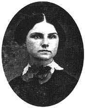An early severe portrait of Celia Thaxter that makes her look not unlike Smuttynose Murder survivor Maren Hontvent / SeacoatNh.com